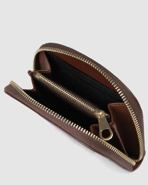 NORA WALLET BROWN CROC