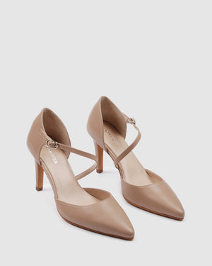 NORWAY HIGH HEELS LIGHT BEIGE LEATHER