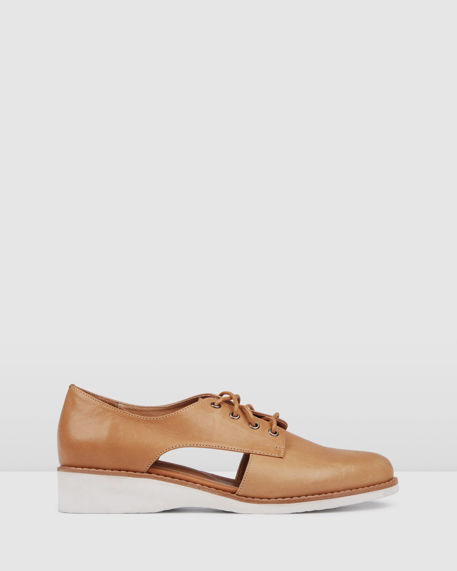 NOVA LACE UPS TAN LEATHER