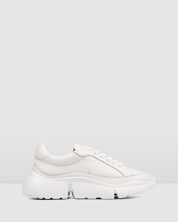 ODYSSEY SNEAKERS WHITE LEATHER