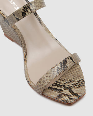 OLYMPIA HIGH HEEL SANDALS SNAKE