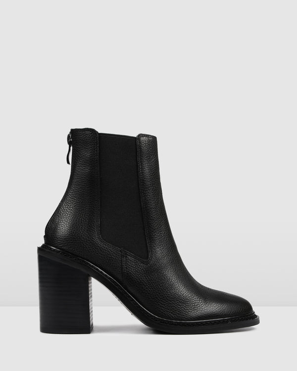 OPERA HIGH ANKLE BOOTS BLACK LEATHER