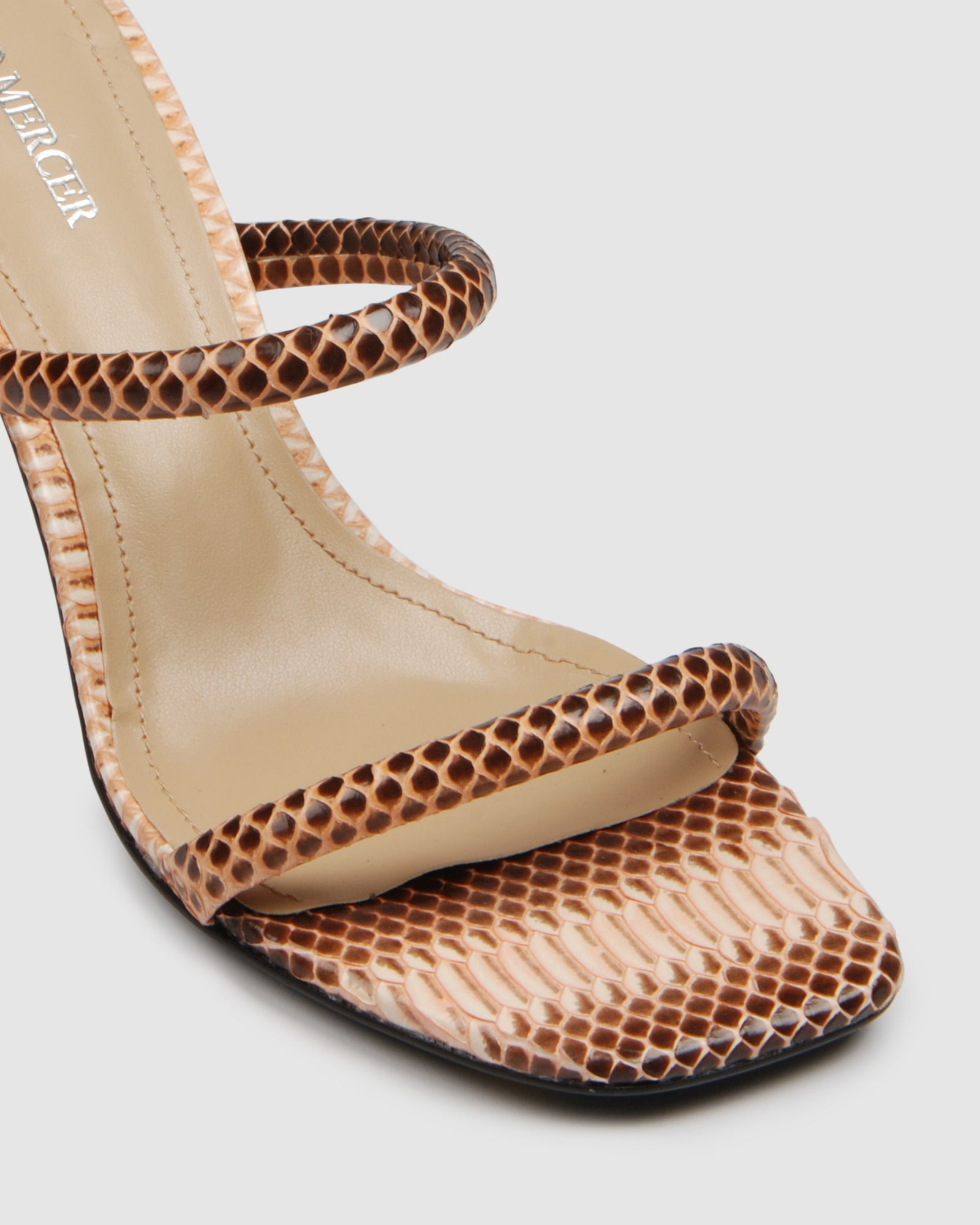 OPTIC MID HEEL SANDALS NATURAL MULTI