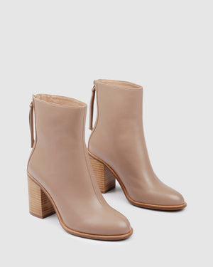 ORMSBY HIGH ANKLE BOOT BEIGE LEATHER