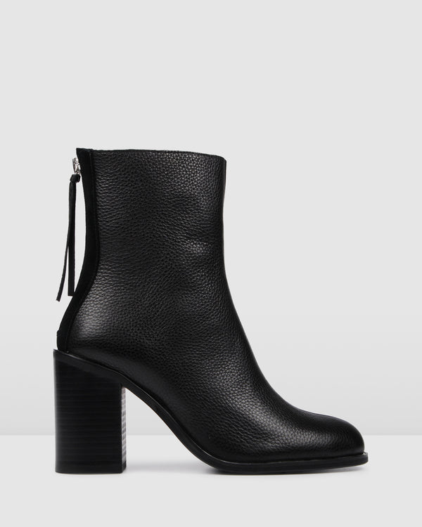 ORMSBY HIGH ANKLE BOOT BLACK LEATHER