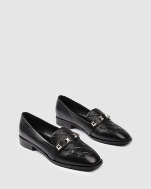 PACIFIC LOAFERS BLACK LEATHER