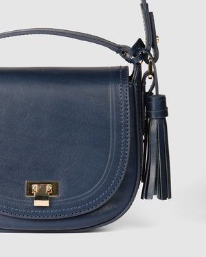 PALERMO CROSS BODY BAG NAVY LEATHER
