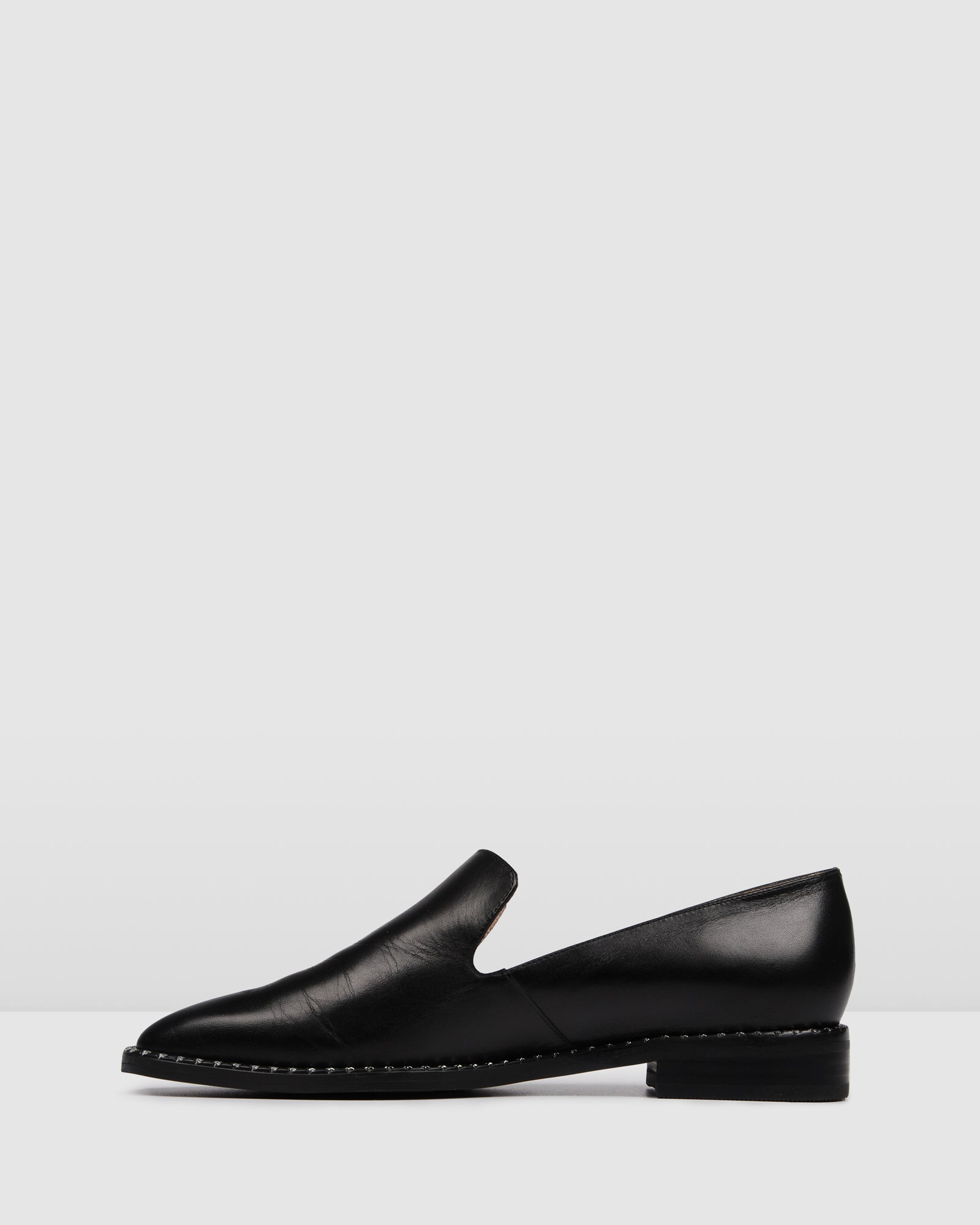 PAOLA LOAFERS BLACK LEATHER