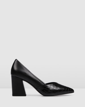 PERRI MID HEELS BLACK LEATHER