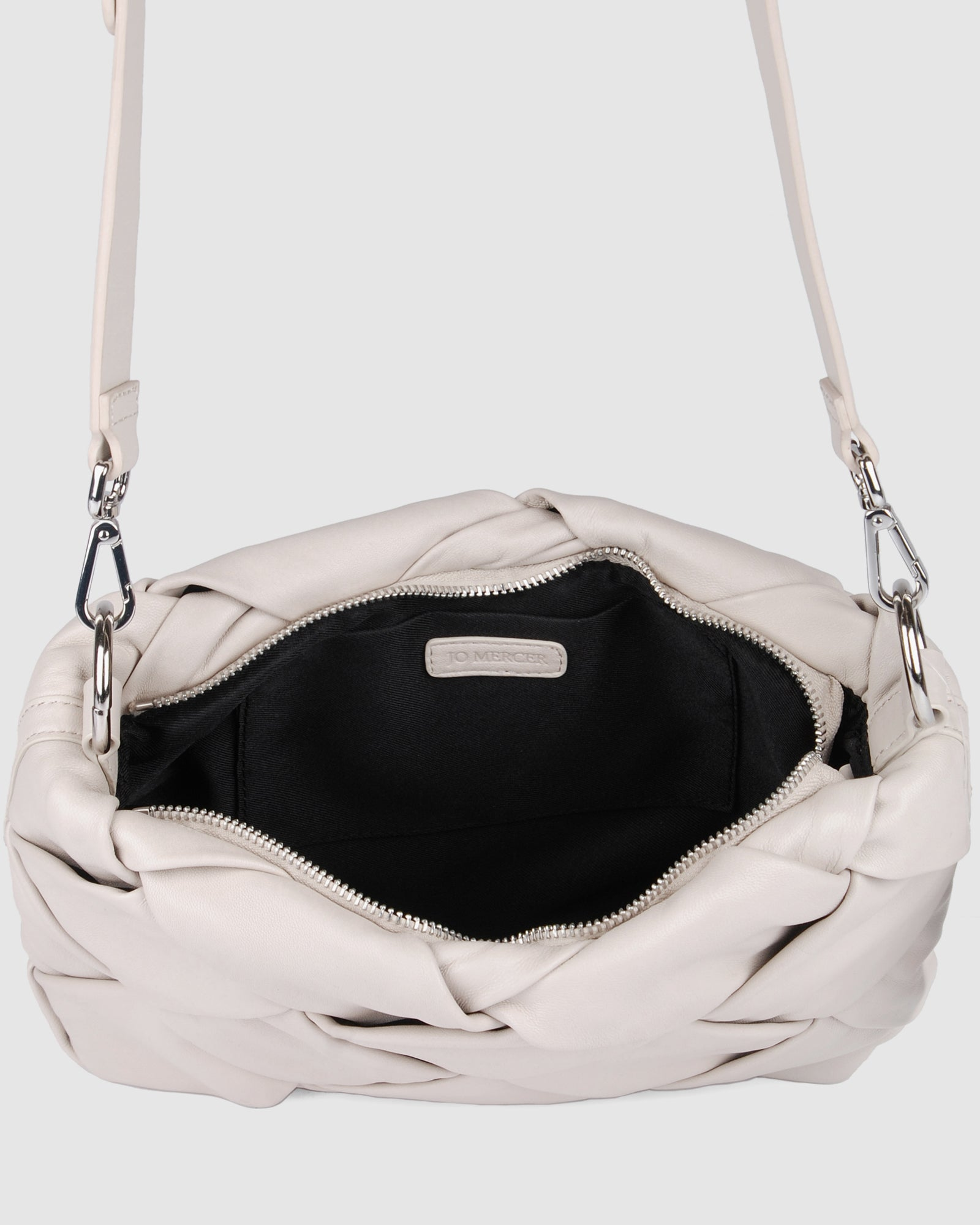 PERSIA CROSS BODY BAG BONE LEATHER
