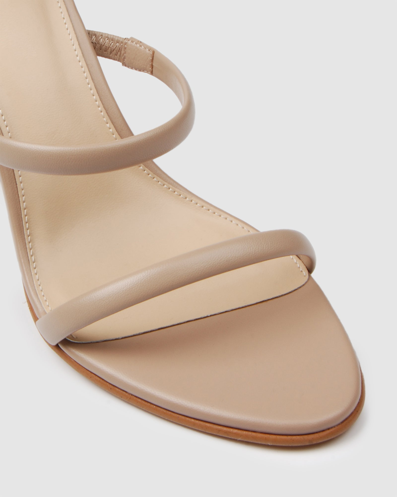 PHOENIX HIGH HEEL SANDALS BEIGE LEATHER