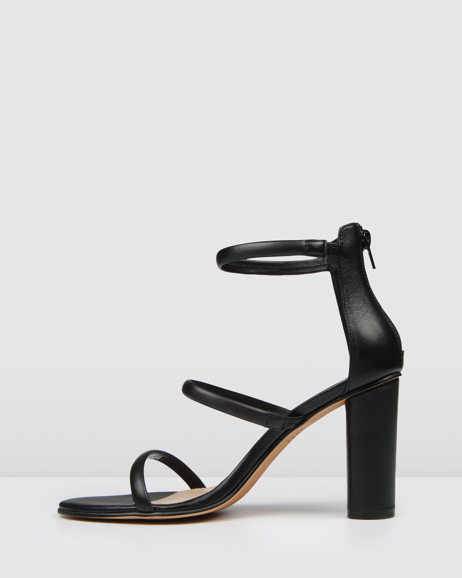 PHOENIX HIGH HEEL SANDALS BLACK LEATHER