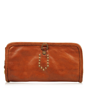 CAMPOMAGGI PIX WALLET COGNAC LEATHER
