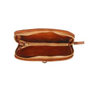 PIX WALLET COGNAC LEATHER