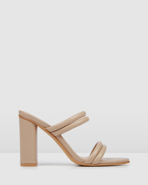 POMONA HIGH HEEL SANDALS BLUSH LEATHER