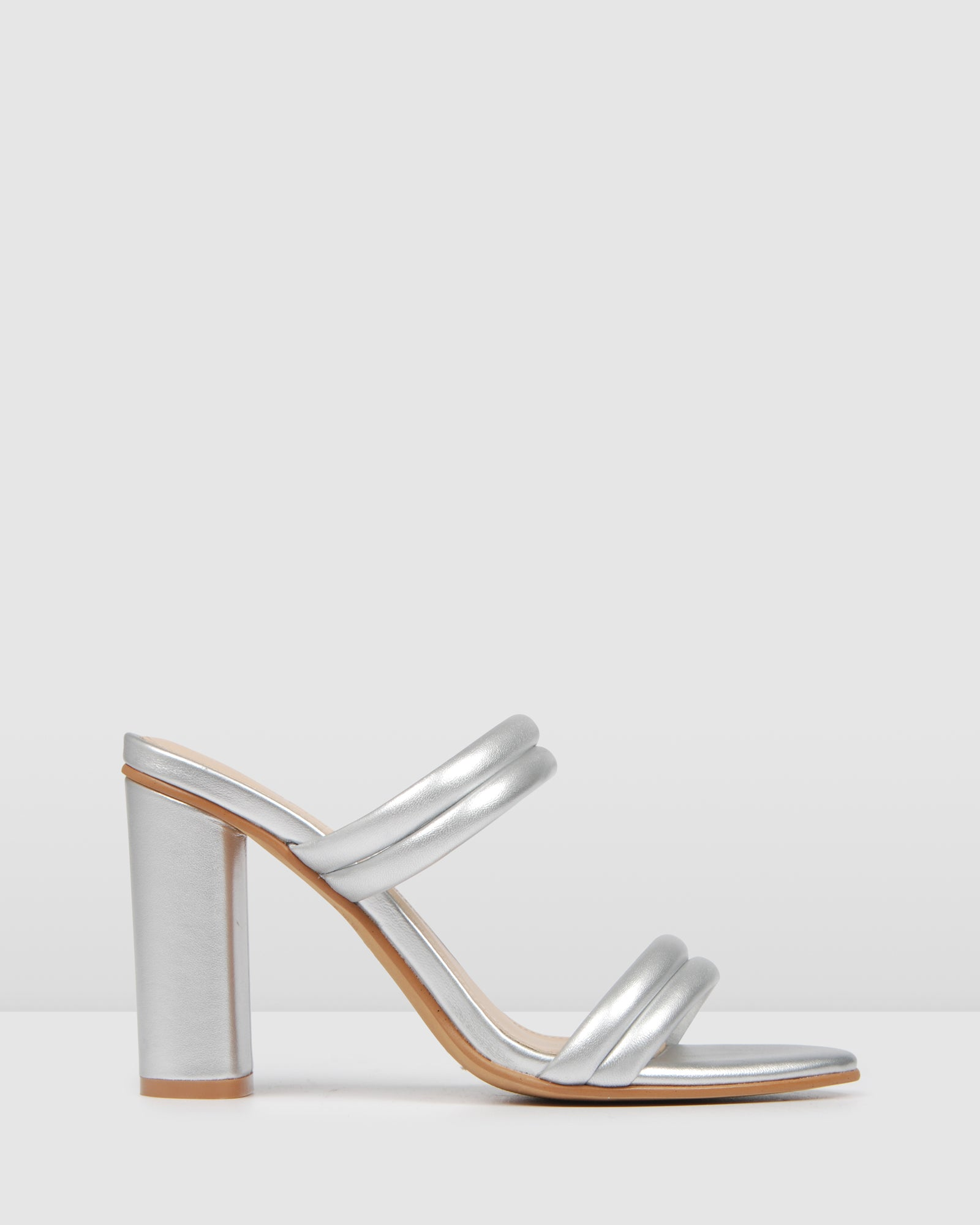 POMONA HIGH HEEL SANDALS SILVER LEATHER
