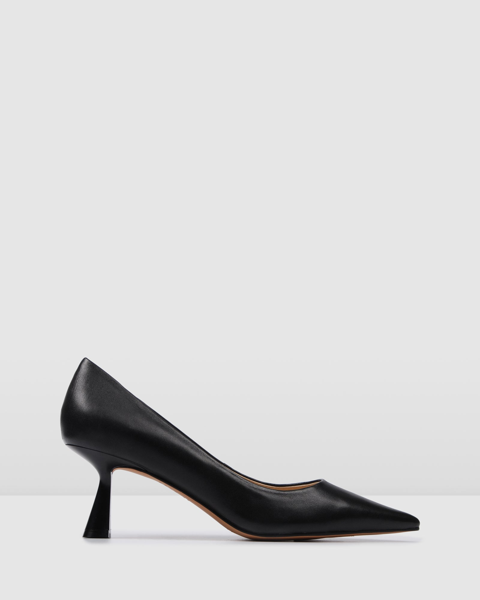 PRESLEY MID HEELS BLACK LEATHER