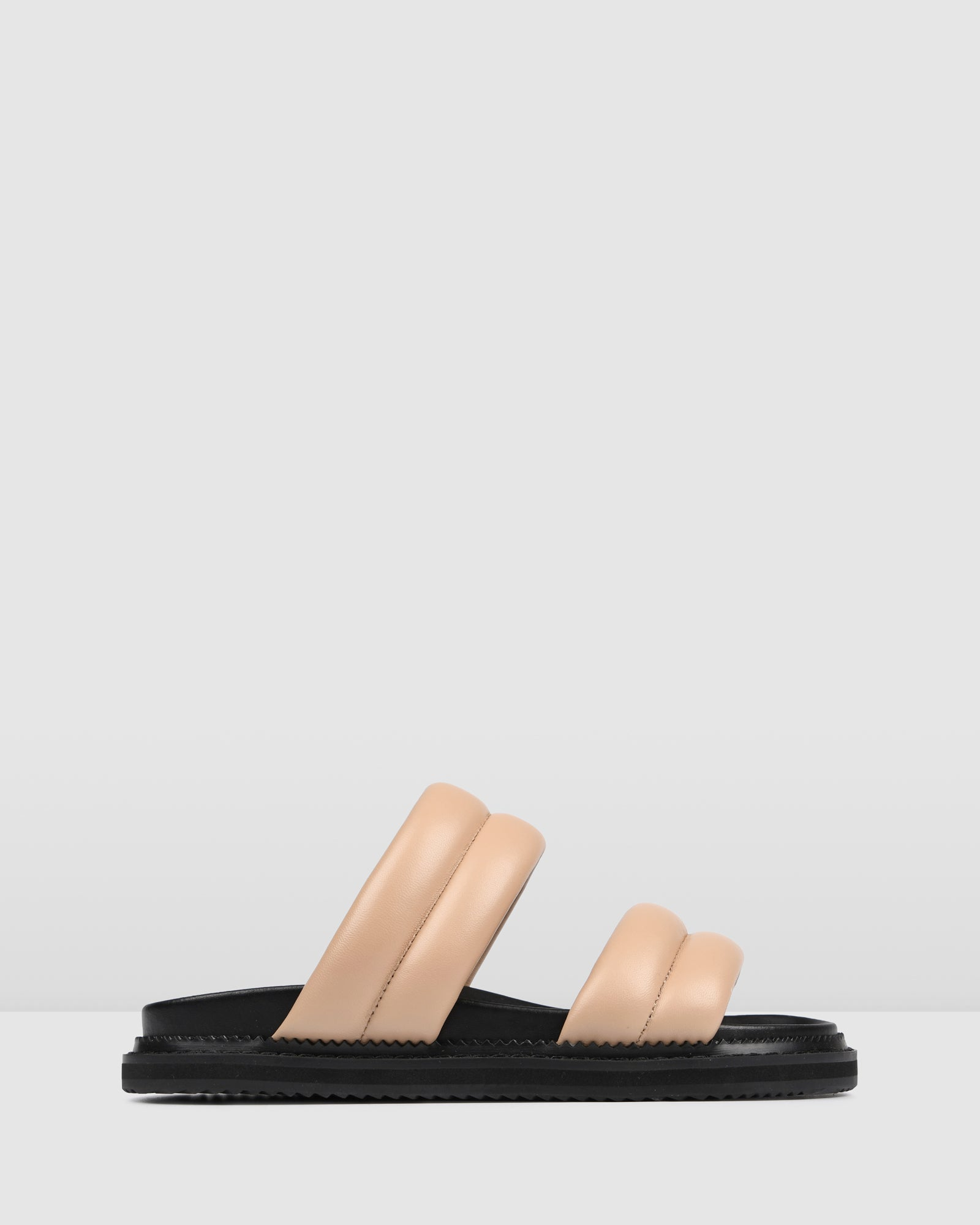 PRINCE FLAT SANDALS NATURAL LEATHER