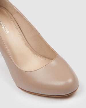 QUIP HIGH HEELS BEIGE LEATHER
