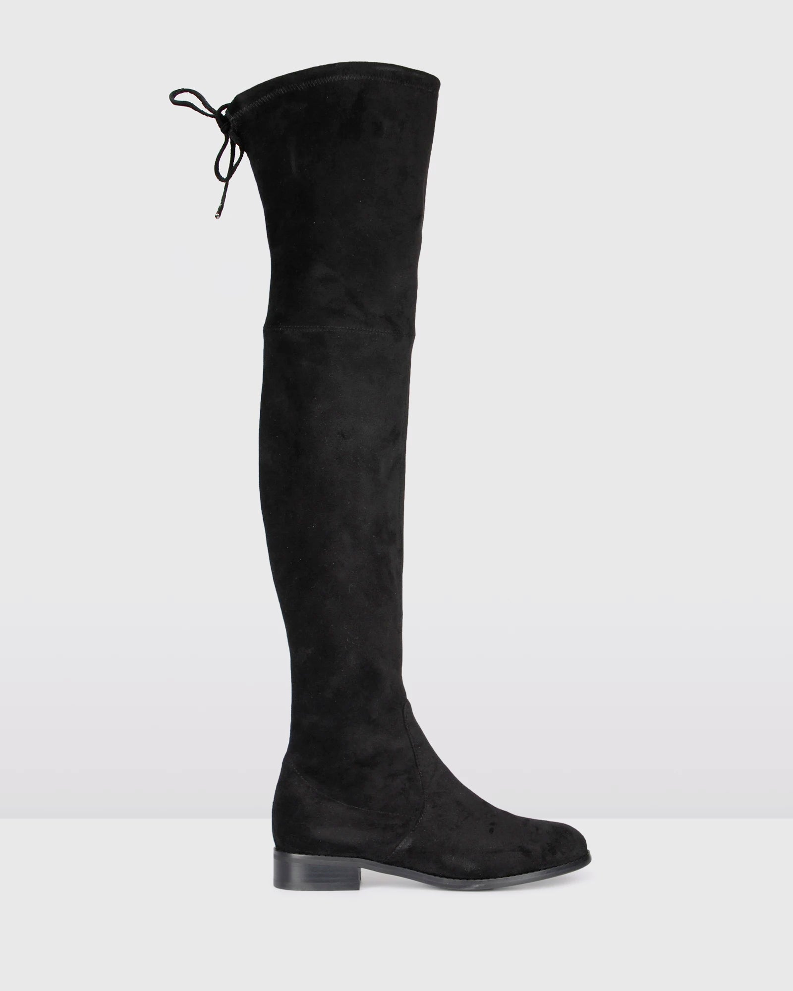 RAVELLO OVER THE KNEE BOOTS BLACK SUEDE