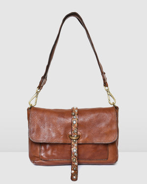 CAMPOMAGGI RAVENNA CROSS BODY BAG COGNAC LEATHER