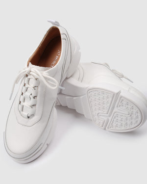 RICKY SNEAKERS WHITE LEATHER