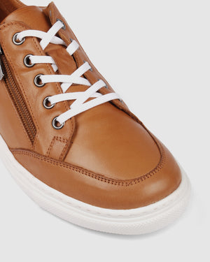 ROCKET SNEAKERS TAN LEATHER