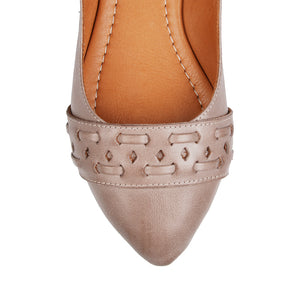 SABELO CASUAL FLATS TAUPE LEATHER