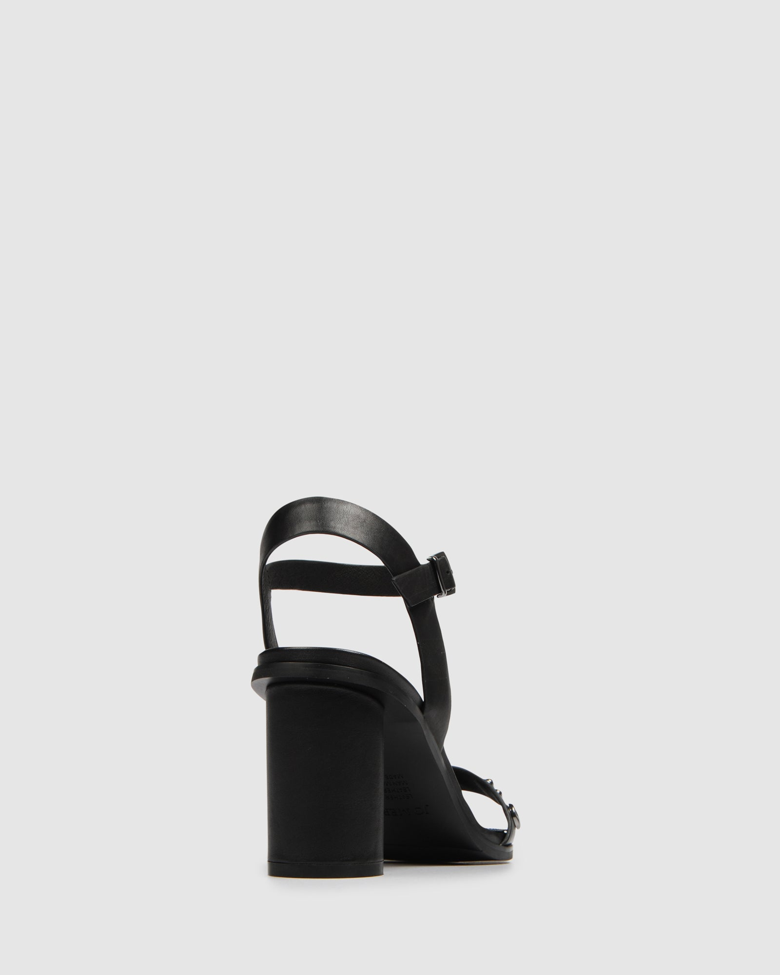 SABRINA MID HEEL SANDALS BLACK LEATHER