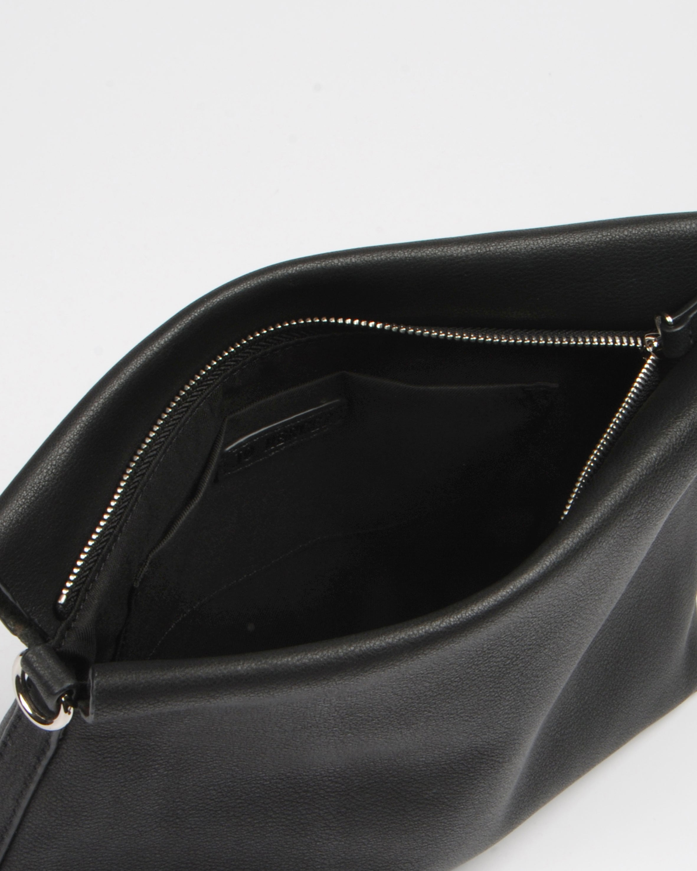 SAGE CROSS BODY BAG BLACK LEATHER