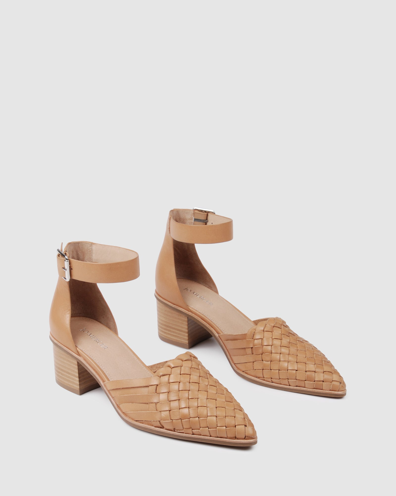 SALLY LOW HEELS TAN LEATHER