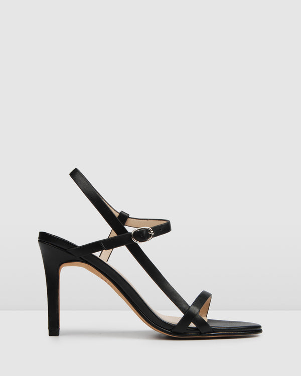 SANITY HIGH SANDALS BLACK LEATHER