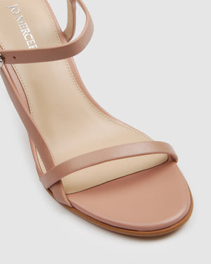 SANITY HIGH SANDALS BLUSH LEATHER