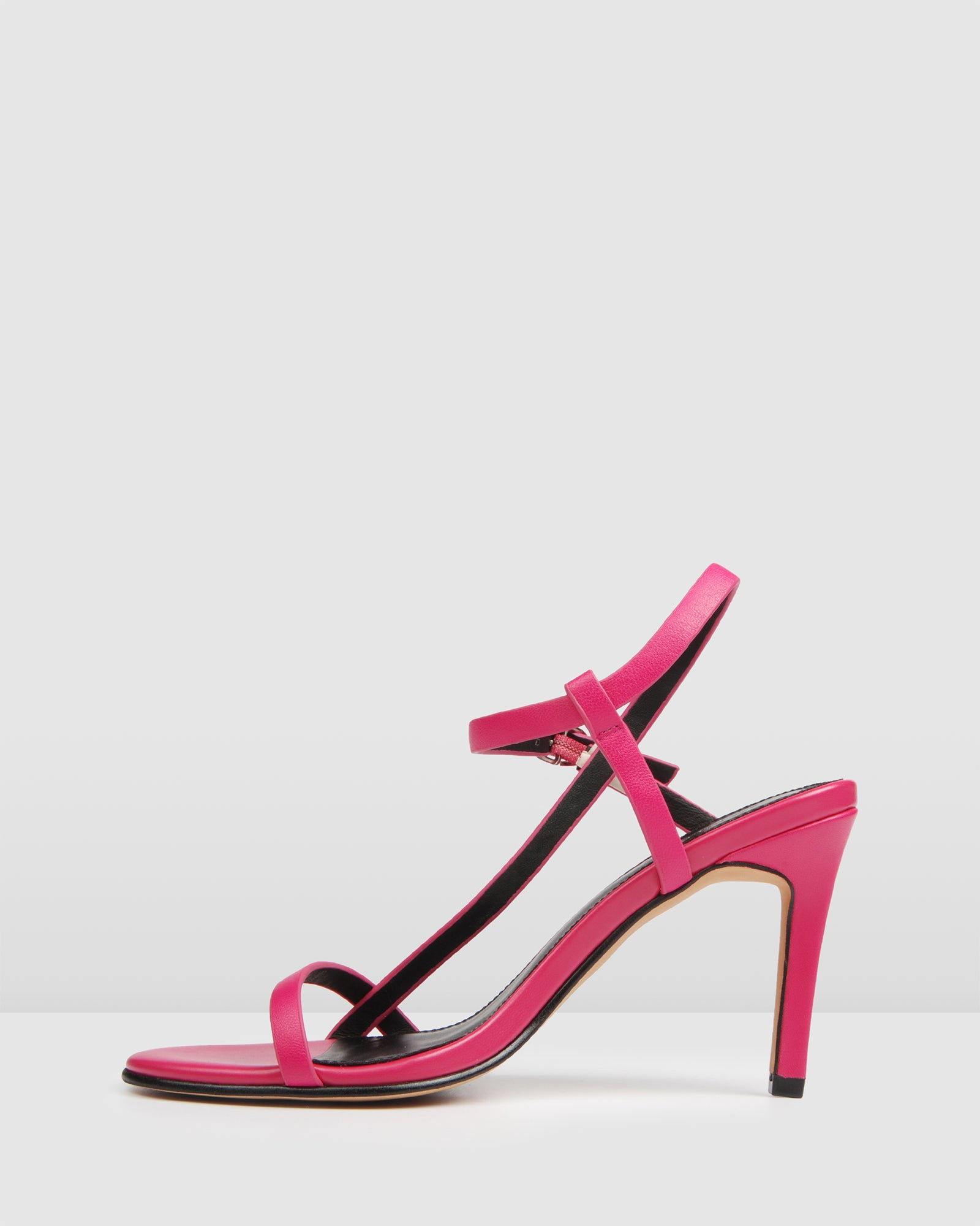 SANITY HIGH SANDALS HOT PINK LEATHER