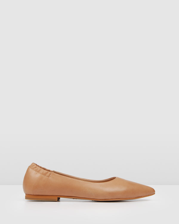 SELBY BALLET FLATS TAN LEATHER