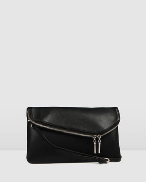 SICILY CROSS BODY BAG BLACK LEATHER
