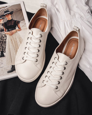 NOAH SNEAKERS WHITE LEATHER