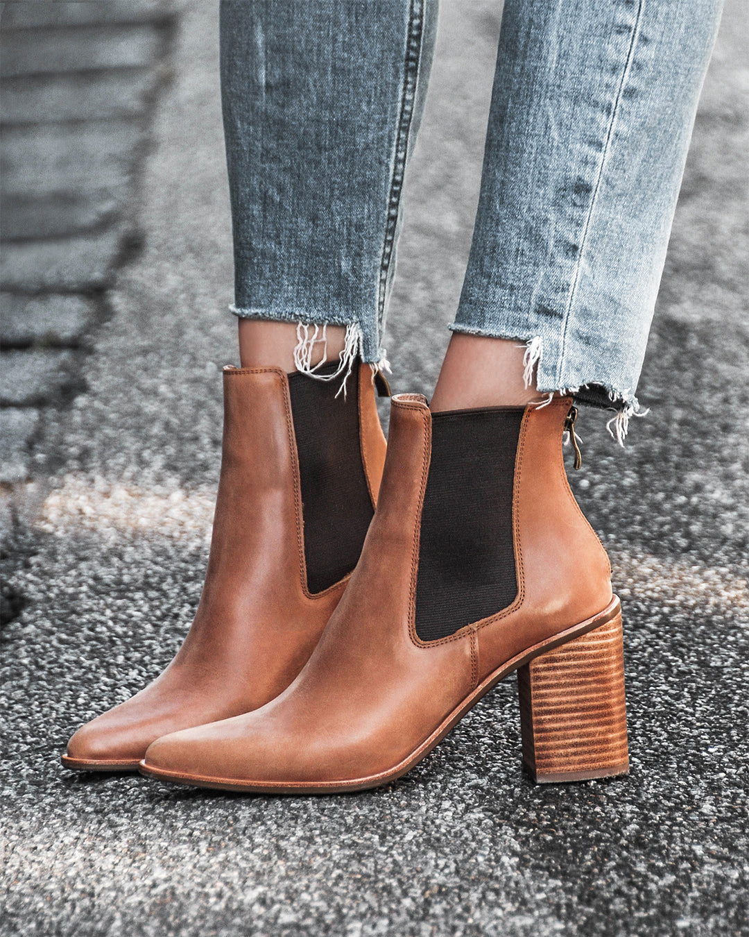 LOVER HIGH ANKLE BOOTS CHOCOLATE LEATHER