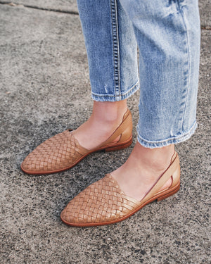 WISDOM CASUAL FLATS TAN LEATHER