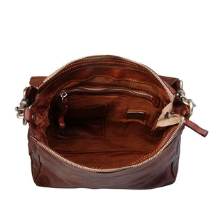 CAMPOMAGGI SPAIN SHOULDER BAG COGNAC LEATHER