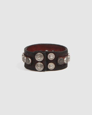 CAMPOMAGGI STANFORD BRACELET WINE LEATHER