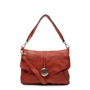 CAMPOMAGGI TAMMY SHOULDER BAG RED LEATHER RED LEATHER
