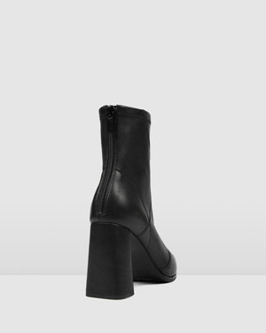 TEX HIGH ANKLE BOOTS BLACK LEATHER