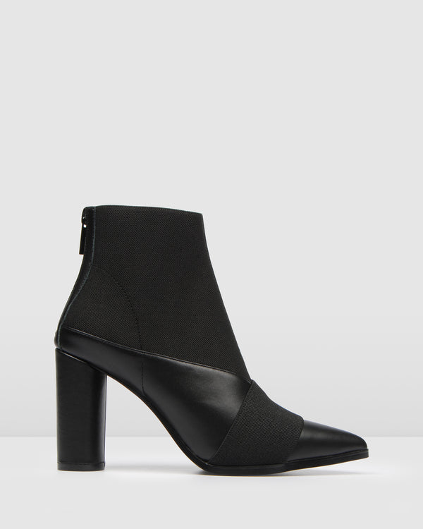 THEORY HIGH ANKLE BOOTS BLACK