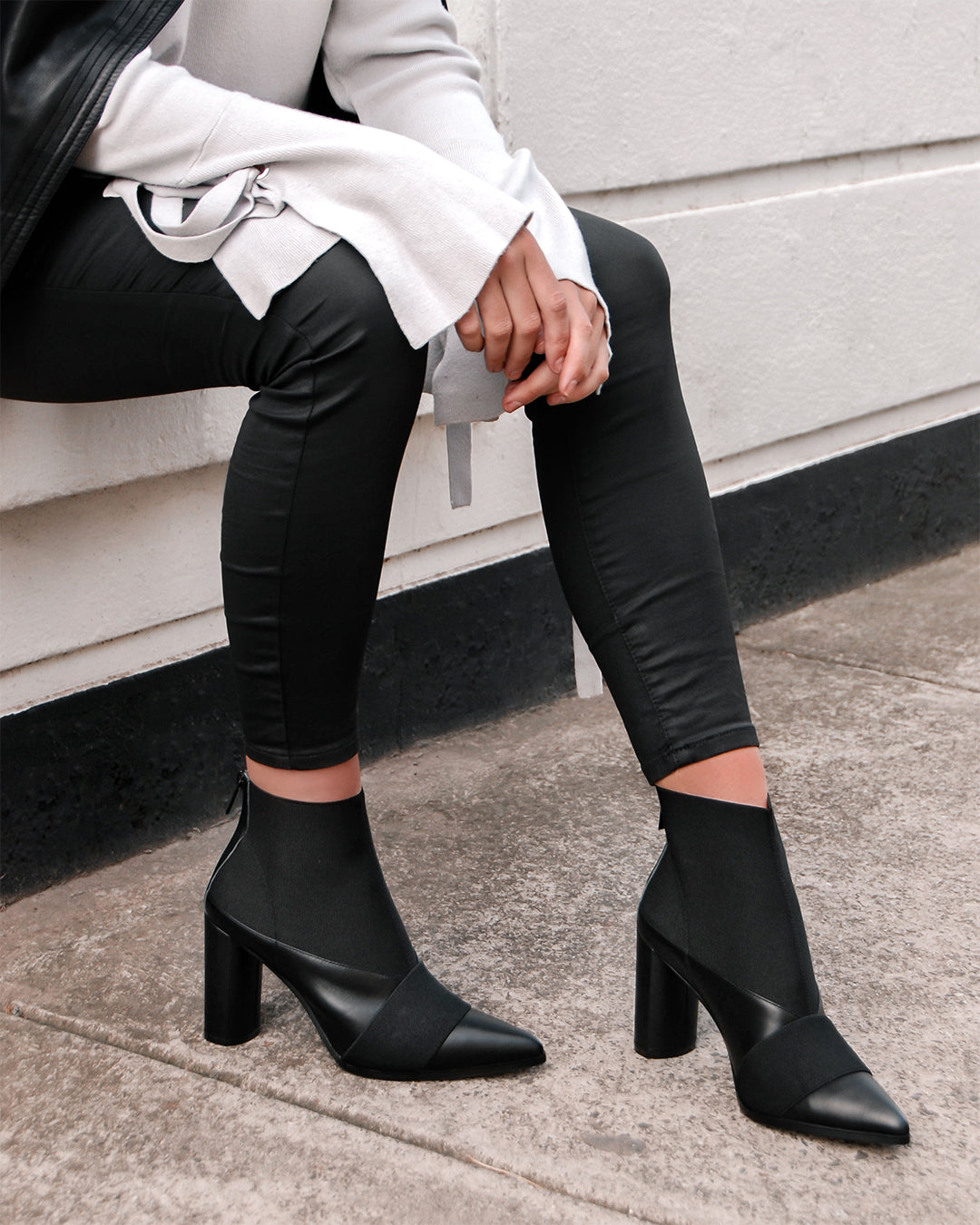 e21b49f7346 ... THEORY HIGH ANKLE BOOTS BLACK. Add ...