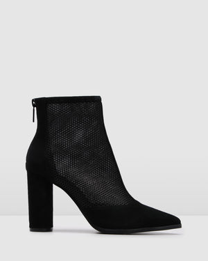 TIERNEY HIGH ANKLE BOOTS BLACK SUEDE