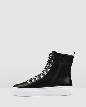 TORINO SNEAKERS BLACK LEATHER
