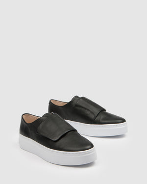 TULLIE SNEAKERS BLACK LEATHER