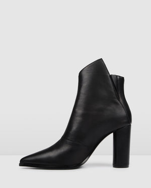 TUX HIGH ANKLE BOOTS BLACK LEATHER