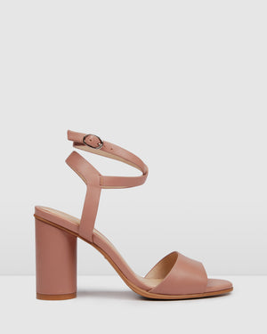 UMBERTO HIGH HEEL SANDALS BLUSH LEATHER